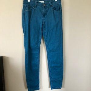 CAbi Teal Skinny Jeans